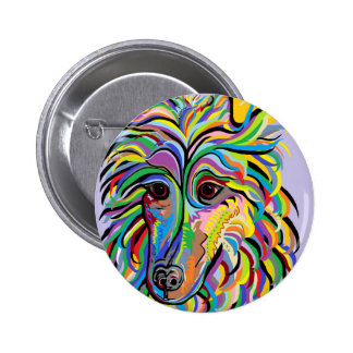 COLLIE PINBACK BUTTON