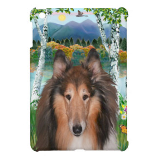 "Collie Portrait - ""In the Birches"" Case For The iPad Mini"