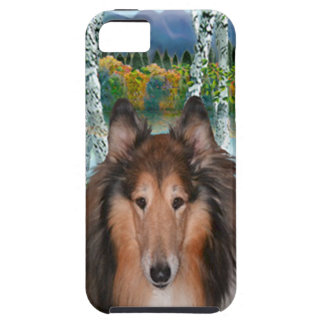 "Collie Portrait - ""In the Birches"" iPhone SE/5/5s Case"