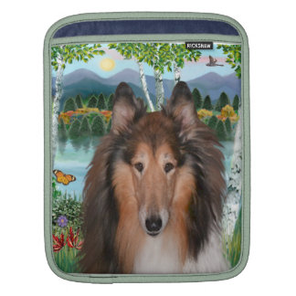 "Collie Portrait - ""In the Birches"" Sleeve For iPads"