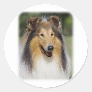 Collie Roiugh AA011D-031 Classic Round Sticker