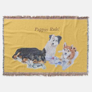 collie rotty y peluches del perrito del inu lindo manta