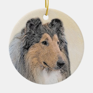Collie (Rough) Ceramic Ornament