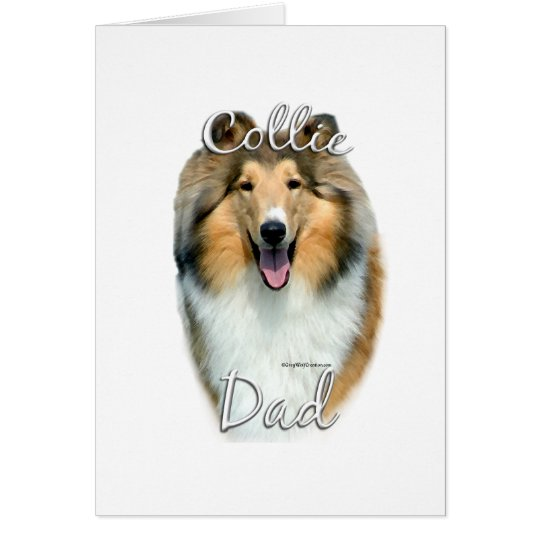 Collie (rough) Dad 2 Card