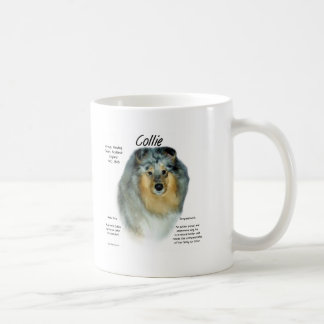 Collie (rough merle) History Design Classic White Coffee Mug