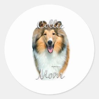 Collie (rough) Mom 2 Sticker