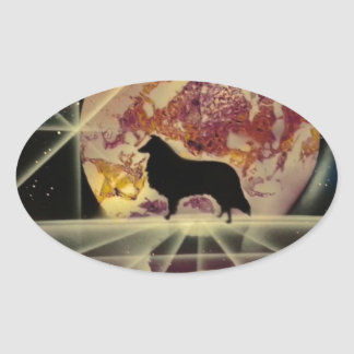 Collie s Crystal Lake Oval Stickers