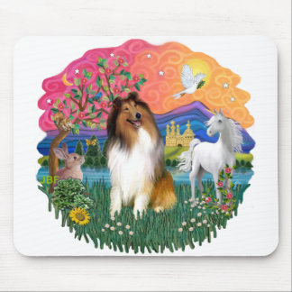 Collie (Sable and white) Mouse Pad