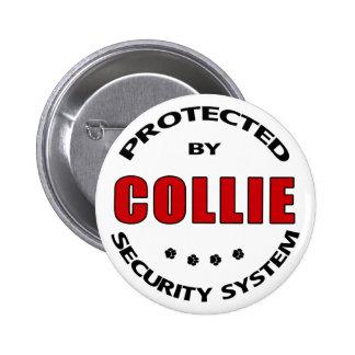 Collie Security Pinback Button