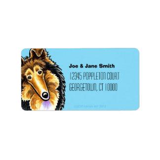 Collie Sheltie Carribean Address Label