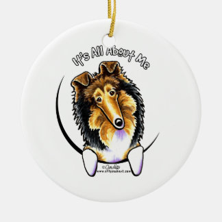 Collie Sheltie IAAM Ceramic Ornament