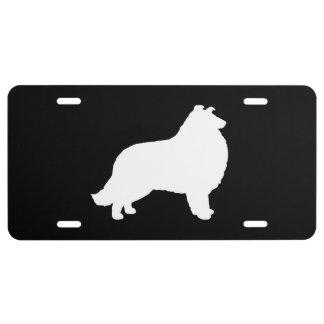 Collie Silhouette License Plate