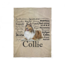 Collie Traits Fleece Blanket