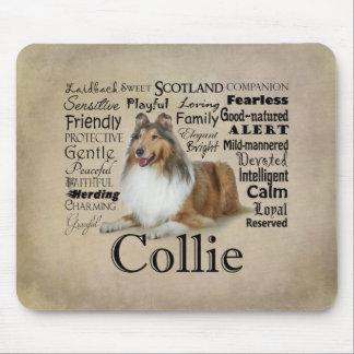 Collie Traits Mousepad Mouse Pad