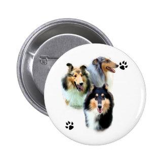 Collie Trio - Button