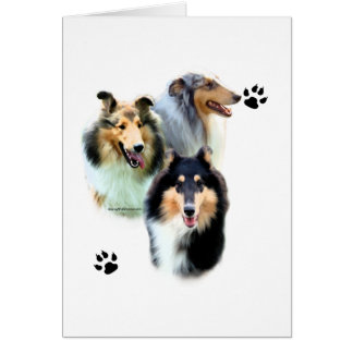 Collie Trio Greeting Cards