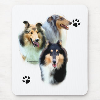 Collie Trio Mouse Pad