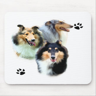 Collie Trio Mouse Pad