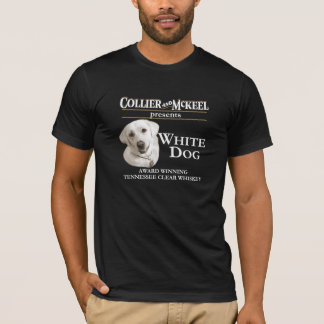 Collier and McKeel White Dog black t-shirt