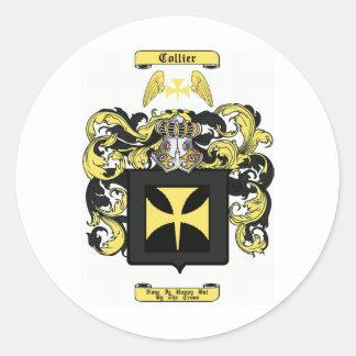collier classic round sticker