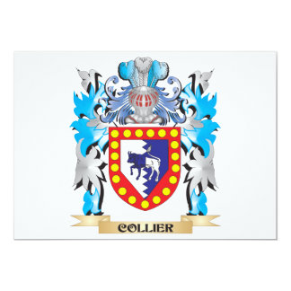 Collier Coat of Arms - Family Crest 5x7 Paper Invitation Card