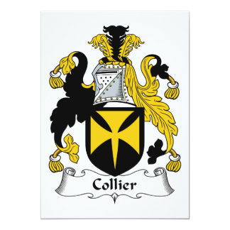 Collier Family Crest 5x7 Paper Invitation Card