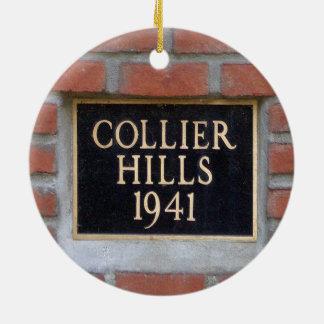 Collier Hills, Atlanta,Georgia, Christmas Ornament