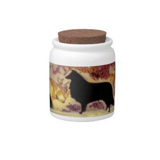 Collie's Crystal Lake Candy Jars