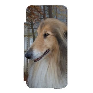 Collies Digitally Painted Wallet Case For iPhone SE/5/5s