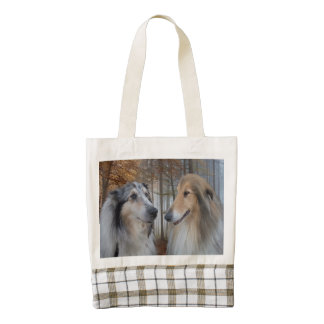 Collies Digitally Painted Zazzle HEART Tote Bag