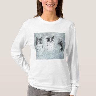 Collies in the Mist, Light Shirt, Apparel T-Shirt