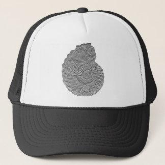 Collignoniceras woollgari- ammonite-bas-relief trucker hat