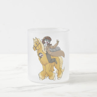 Collin and Quinn- Cowgirl! Frosted Glass Coffee Mug