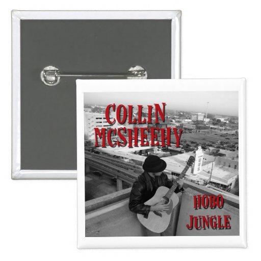 Collin McSheehy (Hobo Jungle Album Cover) 2 Inch Square Button