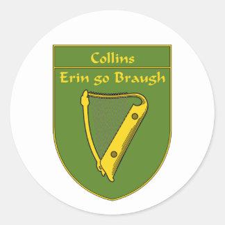 Collins 1798 Flag Shield Classic Round Sticker