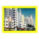 Collins Ave., Miami Beach, FL Vintage Post Card