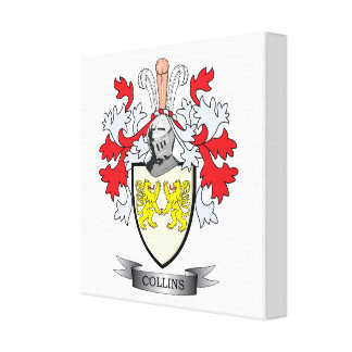 Collins Coat of Arms Canvas Print