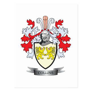 Collins Coat of Arms Postcard