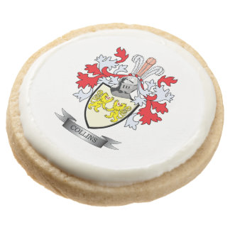 Collins Coat of Arms Round Shortbread Cookie