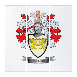 Collins Coat of Arms Triptych