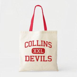 Collins - diablos - centro - colina Virginia Occid Bolsas Lienzo