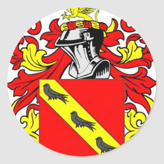 Collins (English) Coat of Arms Classic Round Sticker