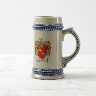 COLLINS FAMILY CREST -  COLLINS COAT OF ARMS BEER STEIN