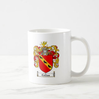COLLINS FAMILY CREST -  COLLINS COAT OF ARMS COFFEE MUG
