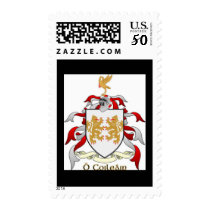 Collins Family Crest Heraldry Postage Stamps