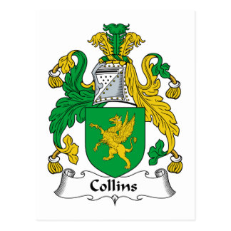 Collins Family Crest Postcard