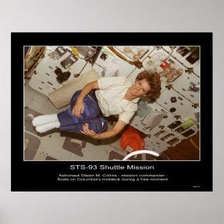 Collins-flotadores de Eileen M. del astronauta Póster