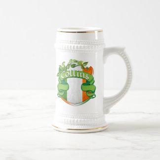 Collins Irish Shield Beer Stein
