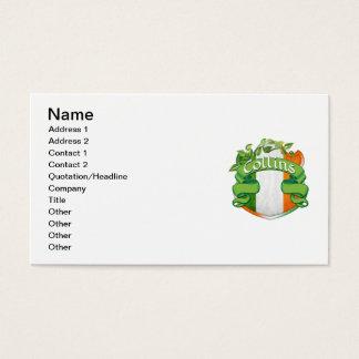 Collins Irish Shield Business Card