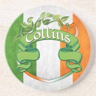Collins Irish Shield Drink Coaster